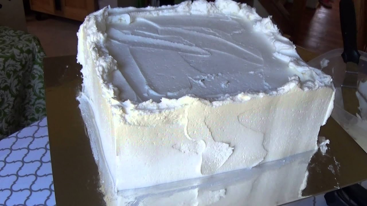 How to Frost a Square Cake - YouTube