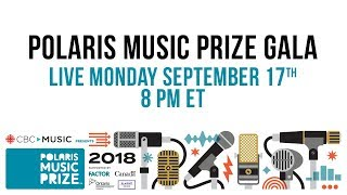 Watch the 2018 Polaris Music Prize Gala