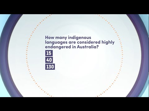 Quiz - How Many Indigenous Languages Are Considered Highly Endangered In Australia?