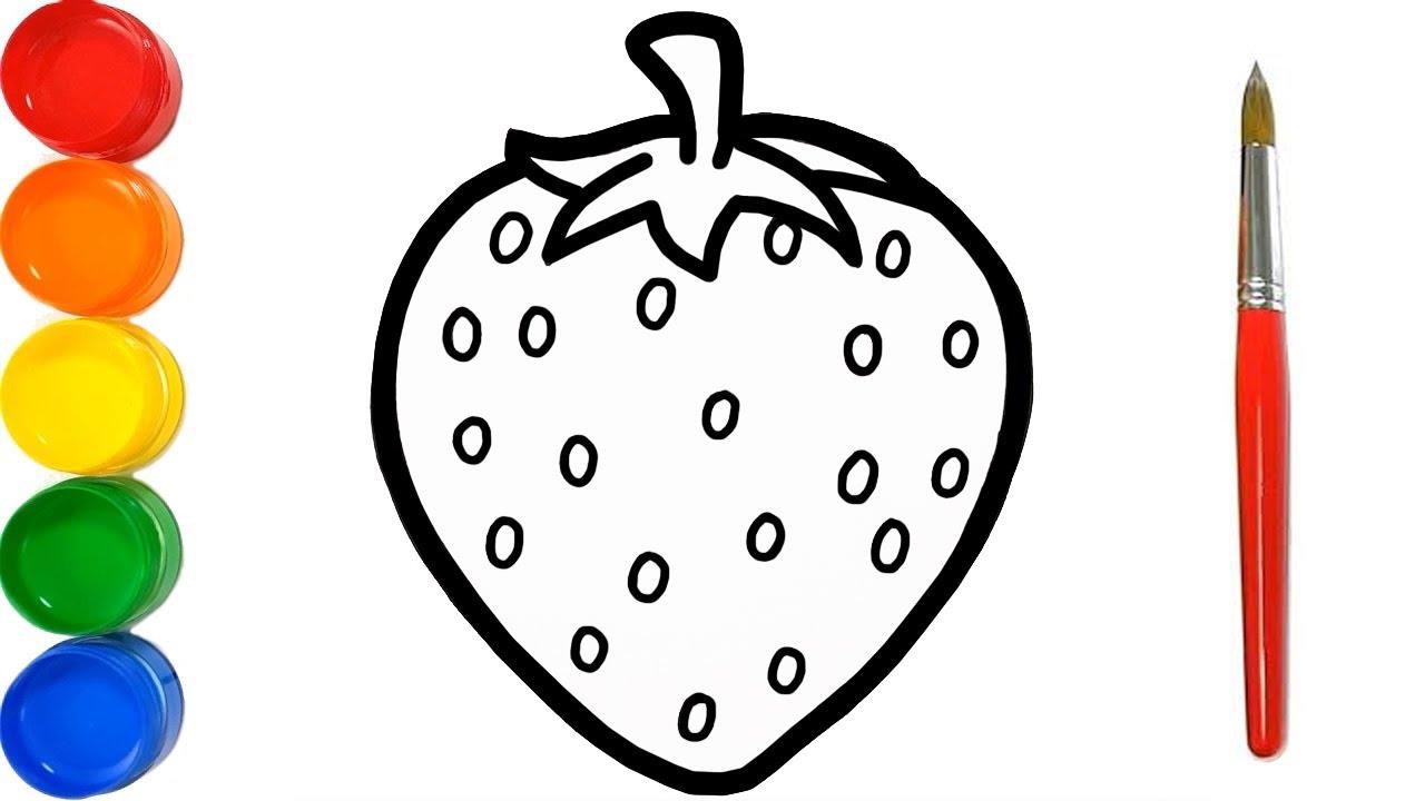 Aprende a Dibujar Una Fresa - Dibujos Para Niños Paso a Paso