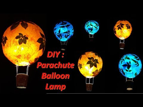 Art Attack | DIY-How to make Parachute Balloon Lamp Shade.