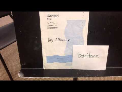 Cantar, by Althouse, baritone