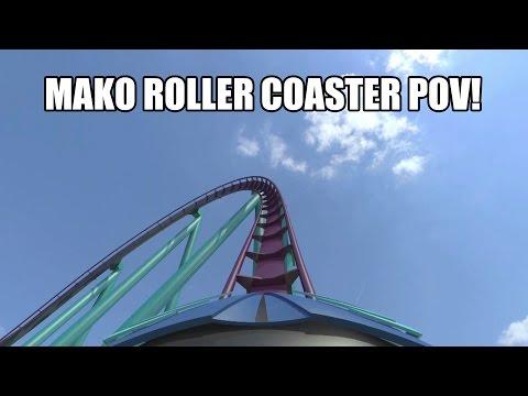 Mako Shark Roller Coaster POV SeaWorld Orlando 2016 - B&M Hyper Coaster