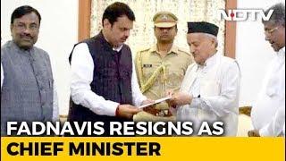 Devendra Fadnavis Resigns As Maharashtra Chief Minister