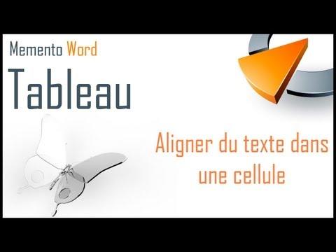 Aligner du texte dans une cellule de tableau Word - Formation Word Marseille