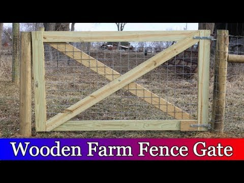 Building a Large Wooden Gate for the Barnyard