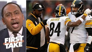 Antonio Brown and Ben Roethlisberger have 'betrayed' Mike Tomlin – Stephen A. | First Take thumbnail