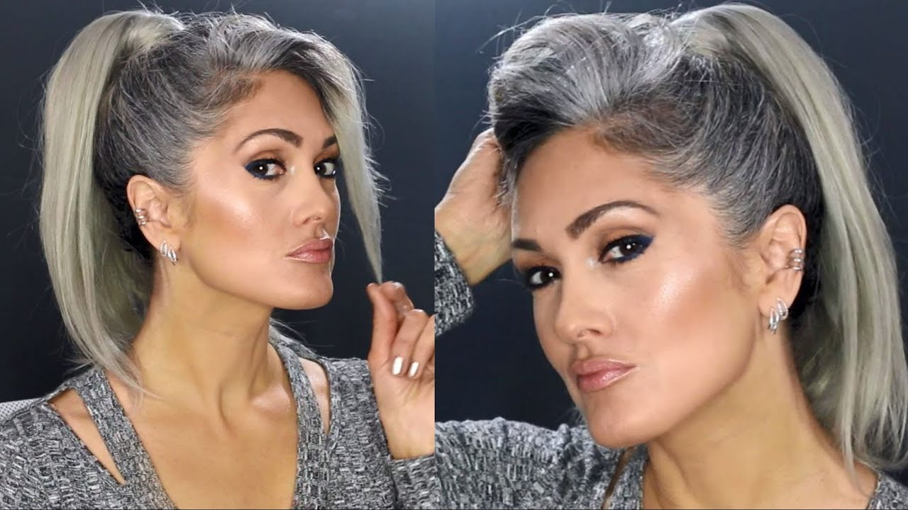 Natural Gray Hair Transition Month 5 Youtube