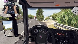 Scania S730 - Bulldozer delivery | Euro Truck Simulator 2 | Logitech g29 gameplay