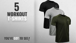 TOP 10 Workout T-shirts For Men: Neleus Men's 3 Pack Mesh Athletic Running T