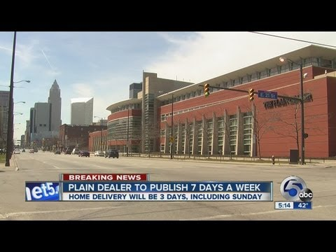 5pm: Plain Dealer cutting back home delivery