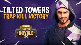 Tilted Towers Trap Kill Victory - Fortnite Battle Royale Gameplay - Ninja KingRichard