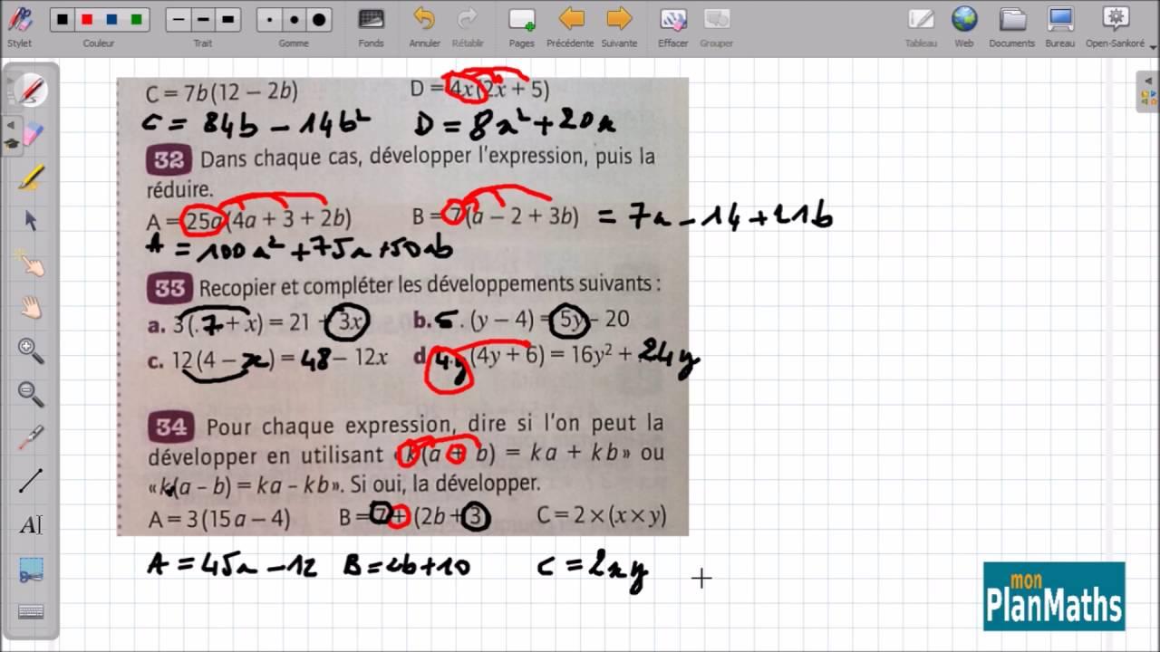 MonPlanMaths : Développement et factorisation -collège -5ème - YouTube