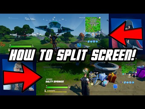 How TO SPLIT SCREEN On Fortnite! (XBOX ONE/PS4)