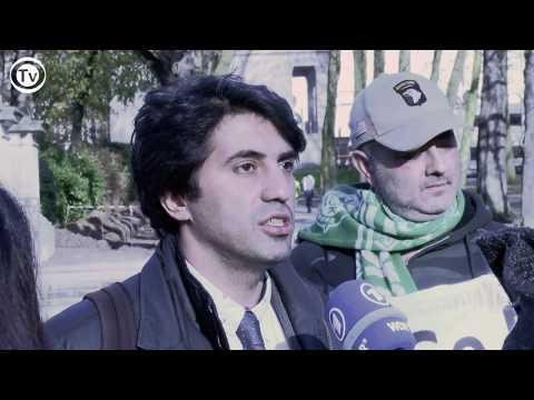 """Brüsselin mərkəzində """"İlham Əliyev diktaturasına yox!"""" aksiyası"""