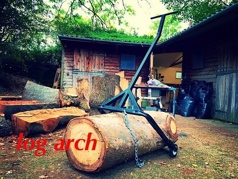 Making A Log Arch From JUNK!