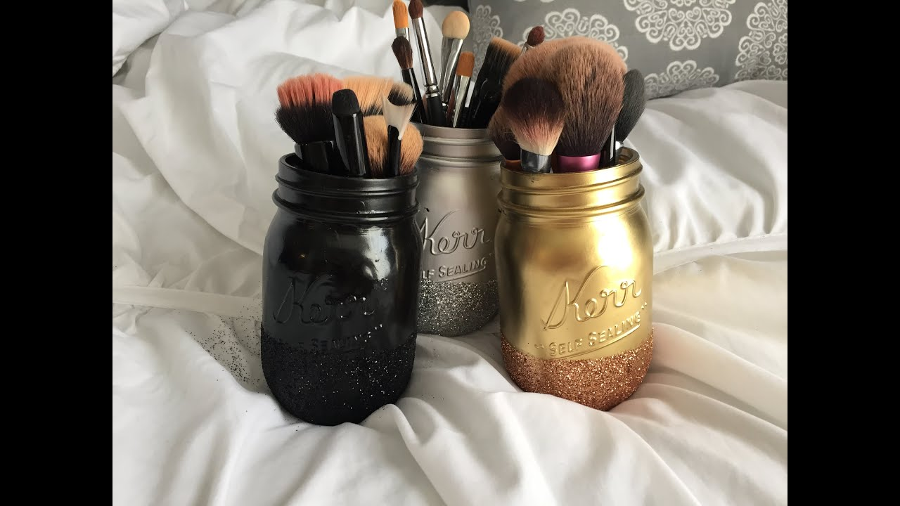 Diy Pinterest Glitter Mason Jars Youtube