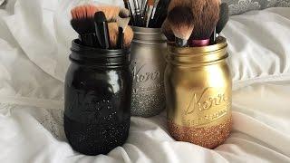 Diy Pinterest Glitter Mason Jars