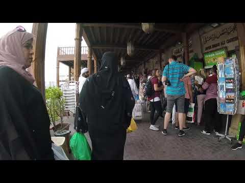 Dubai's Spice Souk (market) is bustling: Raw GoPro footage