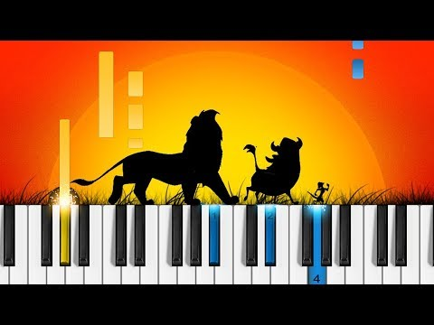 Hakuna Matata - Piano Tutorial - Disney's The Lion King