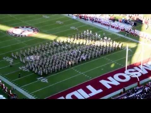 Texas A&M Band halftime vs. Alabama 2016 Bryant Denny Stadium