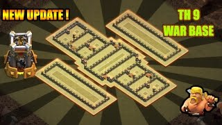 TH9 (TOWN HALL 9) ANTI 3 STAR WAR BASE WITH BOMB TOWER || NEW OCTOBER UPDATE 16 || Clash of Clans ✓