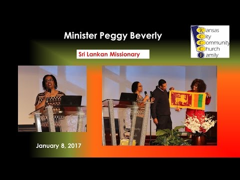 Missionary Peggy Beverly   1-8-17