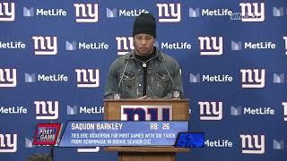 Saquon Barkley: This Entire Season Was Fun | New York Giants Post Game