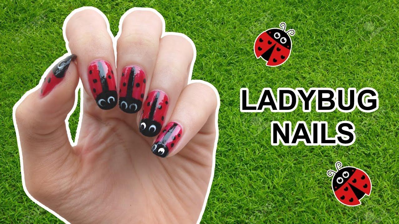 ladybug nails tutorial bahasa indonesia with english