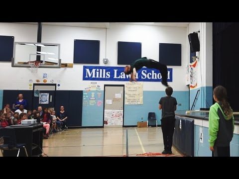 Parkour Presentation at an Elementary School Assembly in Ohio