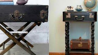 Как сделать оригинальный столик(Как сделать столик. В этом видео мы расскажем, как чемодан можно превратить в необычный, оригинальный журна..., 2014-08-01T09:56:33.000Z)