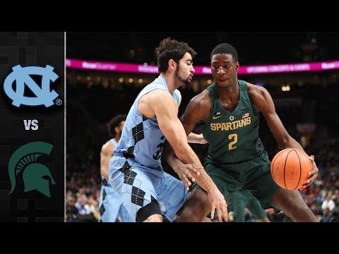North Carolina vs. Michigan State Basketball Highlights (2017)