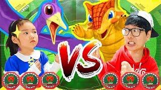 공룡메카드 배틀 놀이 해봤어요! 인형뽑기로 공룡 메카드 타이니소어 뽑기 대결 놀이도 같이 해봐요! Dino Mecard