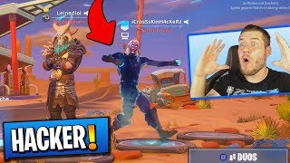 I have a HACKER FOUND! with all SKIN'S! in Fortnite