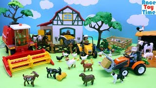 Playmobil Farm Harvester Playset and Fun Animals Toys For Kids