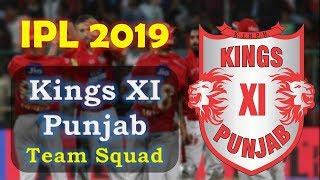 IPL 2019 Kings XI Punjab team Squad | Indian Premium League 2019 | KXIP Probable Team for ipl 2019