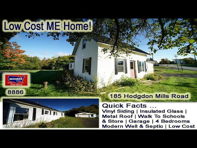 Affordable Homes For Sale | 185 Hodgdon Mills RD Hodgdon ME MOOERS REALTY #8886