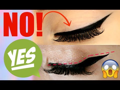 HOW TO- Winged Eyeliner for HOODED EYES! | Jade Madden
