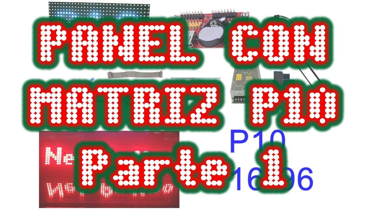 Matriz con panel led P10 16x32 con ARDUINO parte 1 by Net Andino