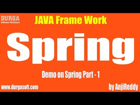 Demo on Spring Framework Part - 1 by AnjiReddy