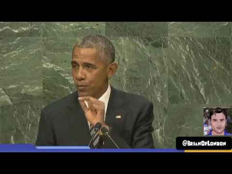 President Obama UN General Assembly Sept 20 2016 talking about Israel Palestine