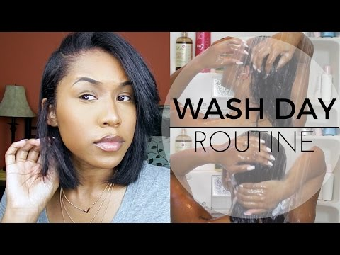 WASH DAY ROUTINE | Relaxed Hair