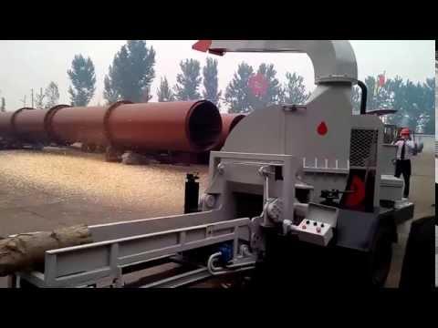 ZHANGQIU YULONG mobile diesel engine wood chipper shredder machine price