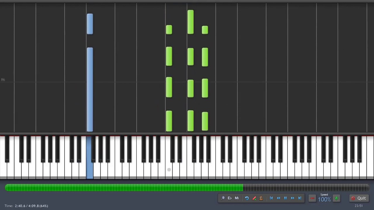 Chandelier (Acústico) - Sia - Piano Karaoke - Synthesia Tutorial ...