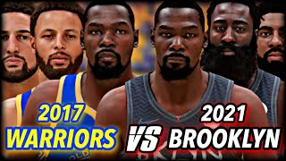 THE 2021 NETS vs 2017 WARRIORS... who wins THIS NBA Championship?