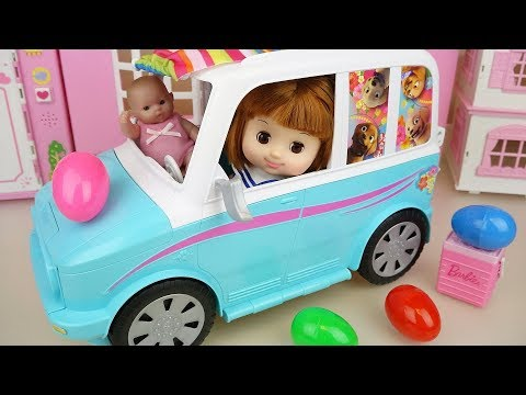 Baby Doli and picnic car surprise eggs toys baby doll play
