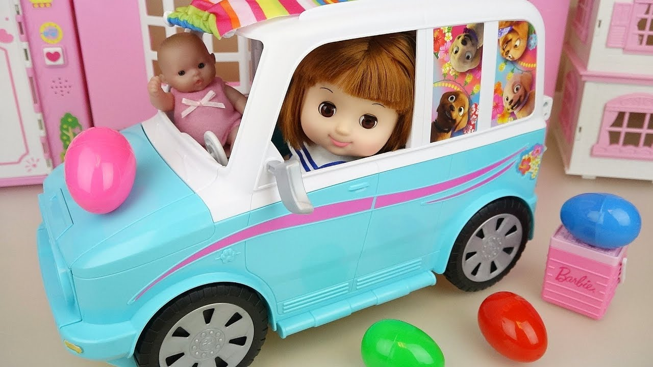 Baby Doli and picnic car surprise eggs toys baby doll play - YouTube