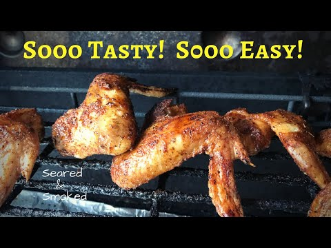 apple SMOKED WINGS RECIPE on a Gas Grill - Weber Genesis with Grillaholics Smoker Box.. sooo EASY!