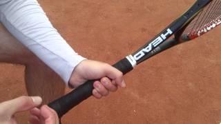 Теннис. Хватки при ударах слева.