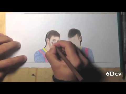 Como Dibujar A Messi Y Neymar
